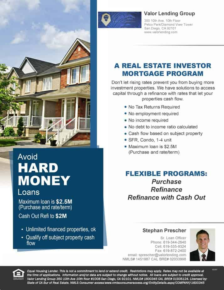 Attention Investors! - Valor Lending Mortgage and Loan Services